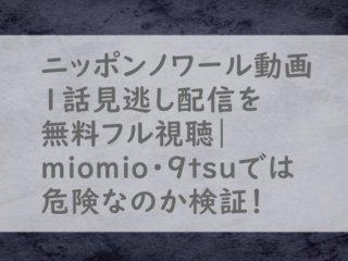 ニッポンノワール1話動画